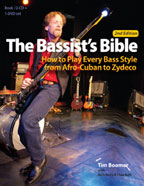 The Bassist's Bible Second Edition: How to Play Every Drum Style from Afro-Cuban to Zydeco cover graphic