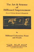 The Art and Science of Billboard Improvement, by Billboard Liberation Front cover graphic
