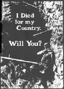 anti-war graphic by Ned Kelly. used by permission