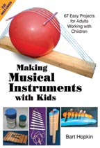 Making Musical Instruments with Kids, by Bart Hopkin cover graphic