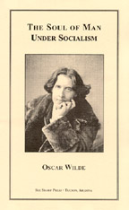 The Soul of Man Under Socialism, by Oscar Wilde cover graphic